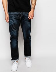 G Star G Star Jeans 3301 Tapered Fit Dark Aged Wash Blue