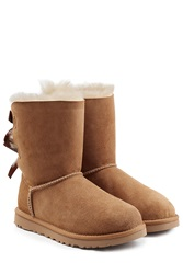 Ugg Australia Bailey Bow Suede Boots Brown