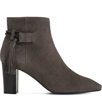 Lk Bennett Charlotte Tasselled Suede Boots Gry Charcoal