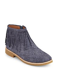 Kate Spade Betsie Fringe Ankle Boots Blue