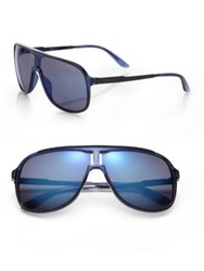 Carrera New Safari 62Mm Plastic Aviator Sunglasses Blue