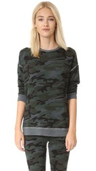 Sundry Tunic Pullover Charcoal Camo