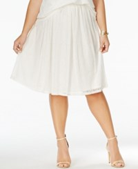 Ing Plus Size Pull On Lace A Line Skirt Off White