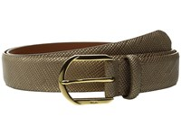 Lauren Ralph Lauren 1 1 4 Sidebar Buckle On Patent Crosshatch Strap Gold Leaf Women's Belts Orange