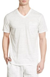 Nordstrom Men's Shop Men's Nordstrom Short Sleeve Stripe V Neck T Shirt