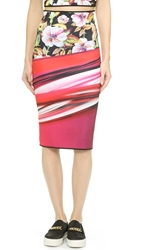 Clover Canyon Botanical Wave Reversible Pencil Skirt Multi