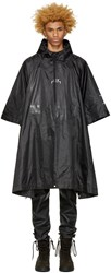 A Cold Wall Black Nylon Poncho