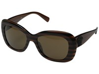 Versace Ve4317 Brown Striped Black Dark Brown Fashion Sunglasses