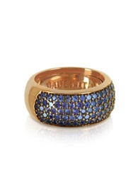 Azhar Blue Cubic Zirconia Silver Vermeil Ring Pink