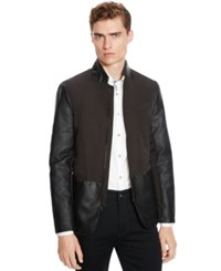 Kenneth Cole Reaction Slim Fit Two Tone Faux Leather Sportcoat