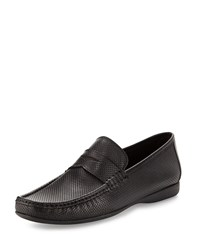 Bruno Magli Partie Perforated Penny Loafer Black
