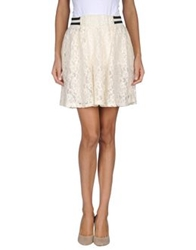 Numph Mini Skirts Ivory