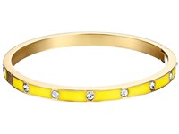 Kate Spade Set In Stone Enamel Stone Hinged Bangle Clear Yellow Bracelet