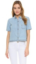 Jack By Bb Dakota Ferrara Top Medium Wash Chambray