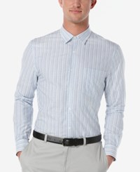 Perry Ellis Men's Challen Striped Long Sleeve Shirt Provence