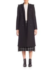 Rag And Bone Ashton Long Peacoat Black