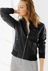 Members Only Inconi Faux Leather Racer Jacket Black