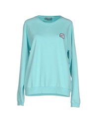 M.Grifoni Denim Topwear Sweatshirts Women Sky Blue