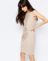 Selected Ganna Ruched Detail Body Conscious Dress Bark