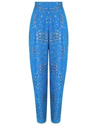 Pedro Del Hierro Electric Blue Chiffon Edmundo Trousers