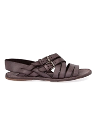 Officine Creative Buckled Sandals Pink And Purple