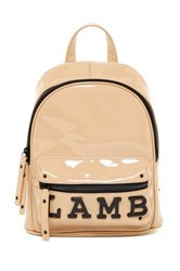 L.A.M.B. Imen Patent Leather Backpack Beige