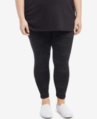 Motherhood Maternity Plus Size Leggings Black And White Print