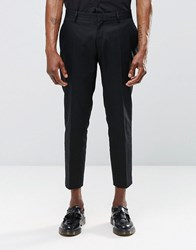 Religion Skinny Cropped Smart Trousers In Black Black
