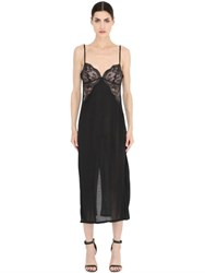 La Perla Begonia Silk And Lace Long Night Gown