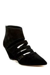 Belle By Sigerson Morrison Wilma Cutout Wedge Bootie Black
