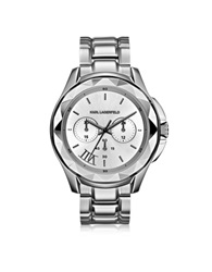 Karl Lagerfeld Icon Stainless Steel Unisex Watch Silver