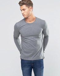 United Colors Of Benetton Long Sleeve Crew Neck T Shirt Grey 507