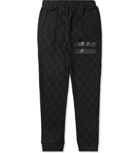 Grand Scheme Black Quilted Track Pants