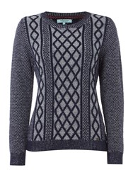 Dickins And Jones Casey Chunky Cable Jumper Navy