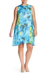Bb Dakota Floral Pleated Trapeze Dress Plus Size Multi