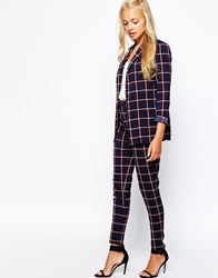Girls On Film Trousers In Check Multi