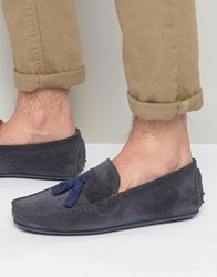 Bobbies Le Gentleman Tassel Suede Loafers Grey