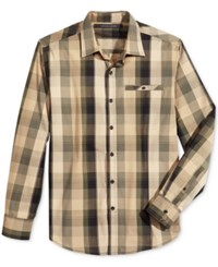 Sean John Jean Men's Plaid Shirt Kelp