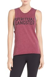 Women's Spiritual Gangster 'Varsity' Graphic Muscle Tank
