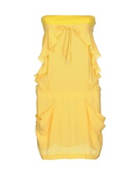 Violet Dresses Short Dresses Women Yellow