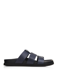 Sergio Rossi Triple Strap Leather Sandals