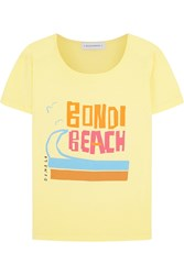 Solid And Striped Donald Robertson Bondi Beach Cotton T Shirt Yellow