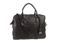 Frye James Work Zip Black Veg Cut Leather Top Zip Handbags