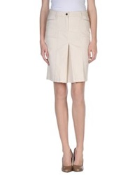 Trussardi Jeans Knee Length Skirts Beige