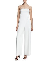 Camilla And Marc Strapless Wide Leg Jumpsuit Women's White