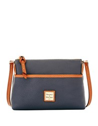 Dooney And Bourke Ginger Leather Crossbody Bag Midnight Blue