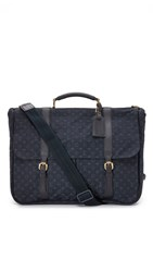 Wgaca Louis Vuitton Navy Mini Lin Denise Briefcase Previously Owned