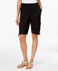 Styleandco. Style And Co. Foldover Cargo Shorts Only At Macy's Deep Black