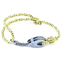 Anchor And Crew Rothesay Rope And Silver Bracelet Yellow Noir