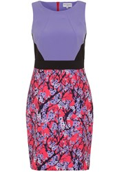 Wolf And Whistle Blossom Print Colour Block Dress Multi Coloured